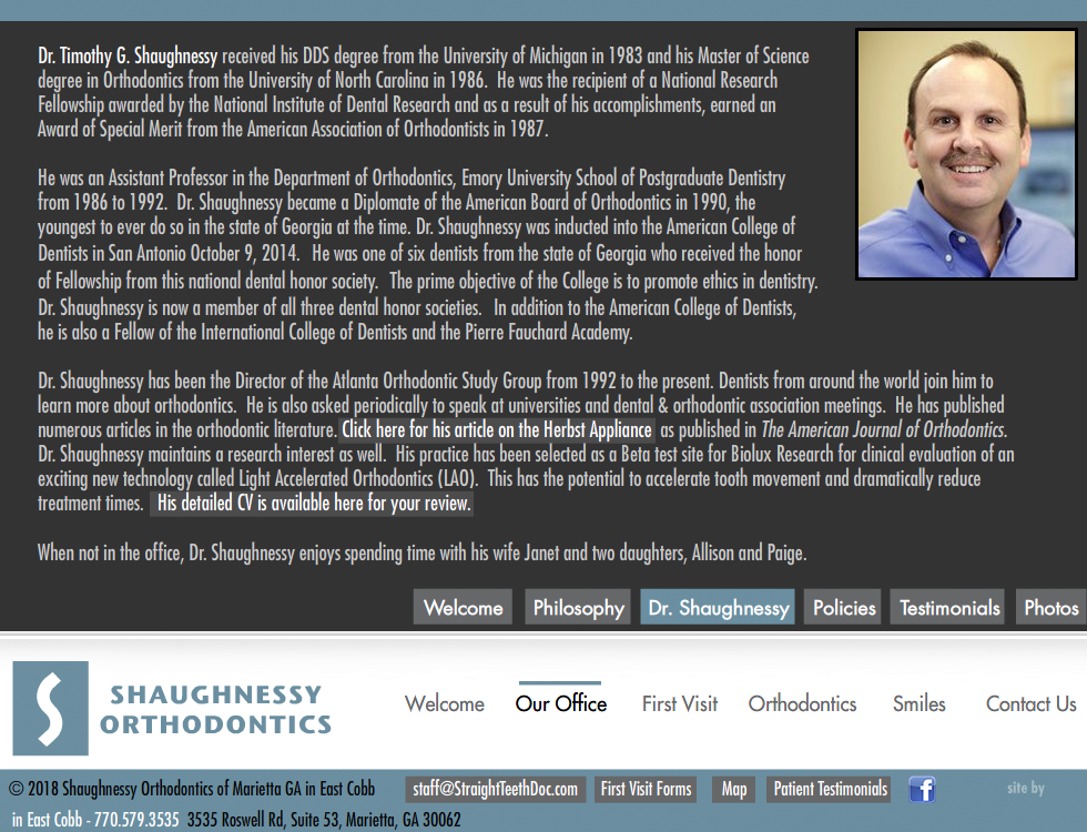Shaughnessy Orthodontics Timothy Shaughnessy Dds Ms